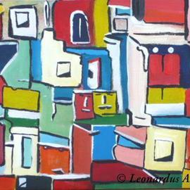 Leon Aarts Artwork Domesticity, 2010 Acrylic Painting, Abstract
