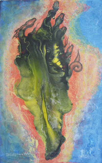 Andrei Autumn  'Birth Of Medusa By Daas', created in 2020, Original Painting Acrylic.