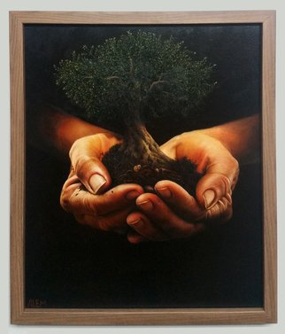 Abed Alem: 'The Giving Tree', 2012 Oil Painting, Surrealism. Artist Description: Painting Oil on Canvas. in this paint you can see an olive tree which is recognize a lot in our country . this paint show people how the tree is important for us and we should protect it . it took nearly a 7 months work. ...