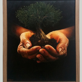 Abed Alem Artwork The Giving Tree, 2012 Oil Painting, Surrealism