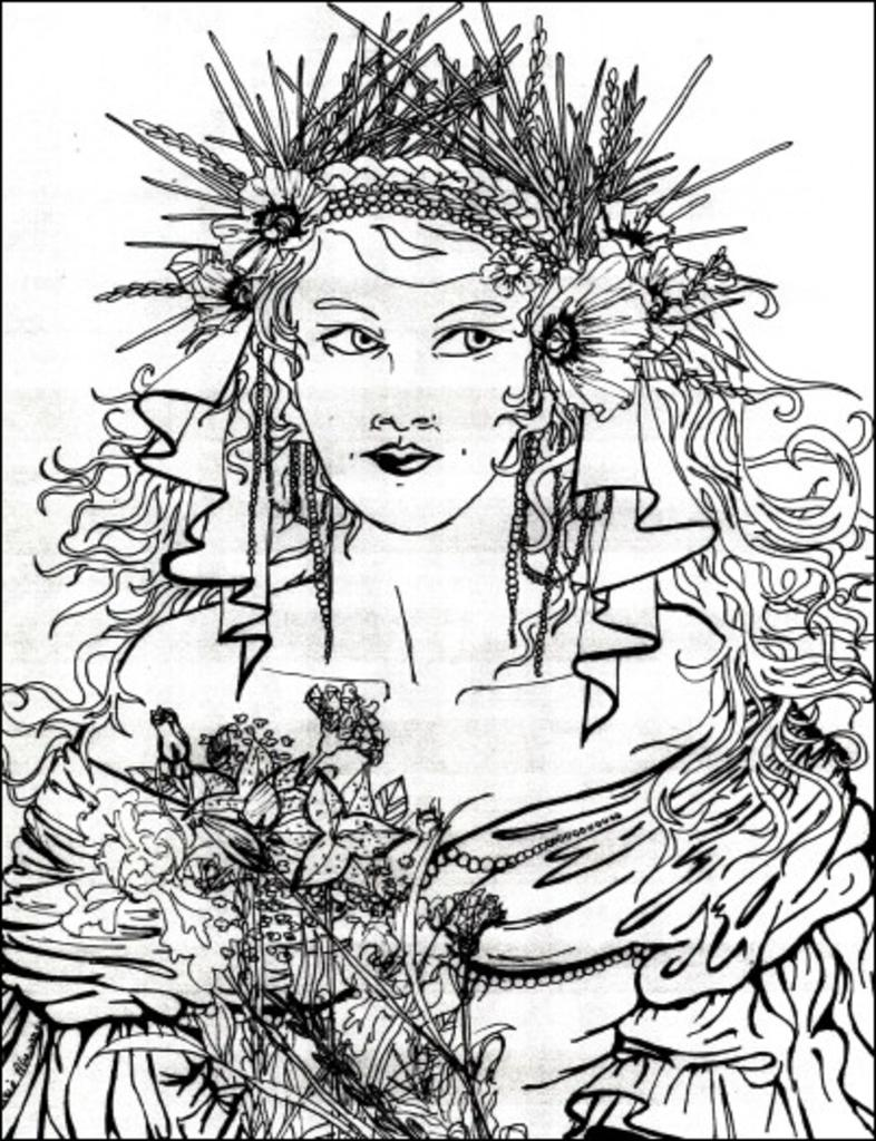 persephone coloring pages - photo #23