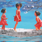 imagination of little girl 6 By Nabendu Roy
