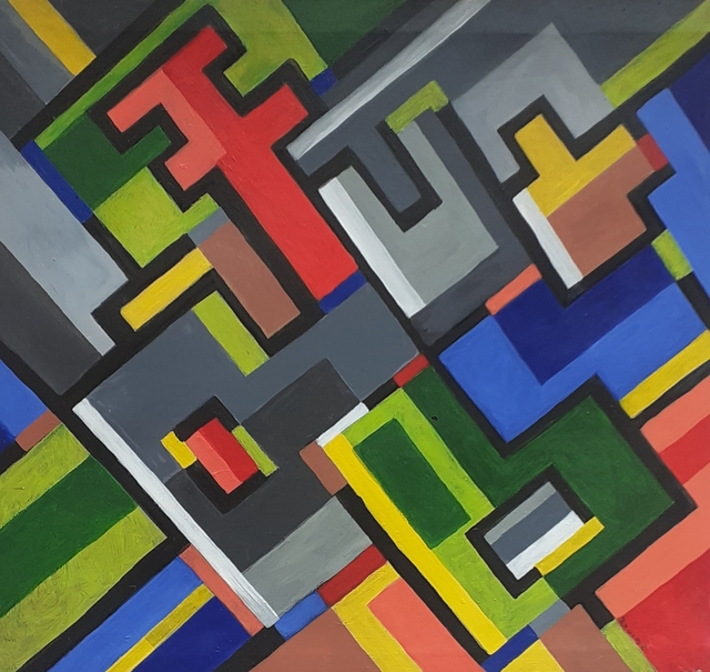 Steve Njenga  'Intersection', created in 2020, Original Painting Acrylic.
