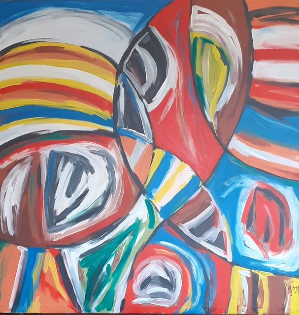Steve Njenga  'Origines', created in 2020, Original Painting Acrylic.