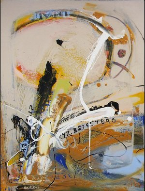 Chi Harkrader: 'silent echo vi room view', 2006 Oil Painting, Abstract Landscape. Action Abstract...