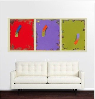 Chi Harkrader: 'triad room', 2015 Mixed Media, Abstract Landscape. Abstract, Room View, Triptych...