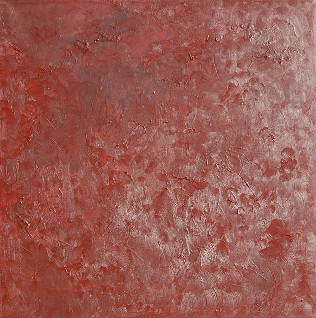 Artie Abello  'Red Texture', created in 2005, Original Drawing Charcoal.