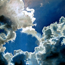 Artie Abello Artwork Skylight, 2005 Oil Painting, Clouds