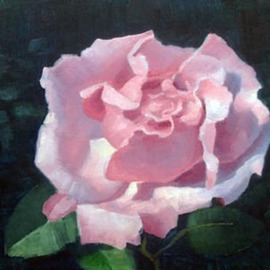 Armand Cabrera: 'Pink Rose', 2012 Oil Painting, Still Life. Artist Description:  Painted for Armand Cabrera's
