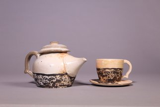 Alex Cavinee: 'tea set', 2017 Wheel Ceramics, .