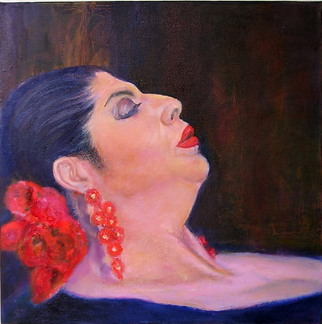 Artist: Sylva Zalmanson - Title: Flamenco 4 - Medium: Oil Painting - Year: 2008