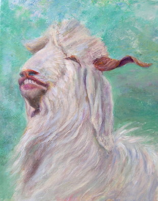 Artist: Sylva Zalmanson - Title: Goat 2 - Medium: Acrylic Painting - Year: 2009