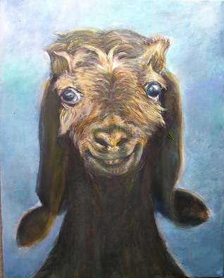 Animals Acrylic Painting by Sylva Zalmanson Title: Goat 4, created in 2010