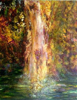 Artist: Sylva Zalmanson - Title: Waterfall - Medium: Acrylic Painting - Year: 2011