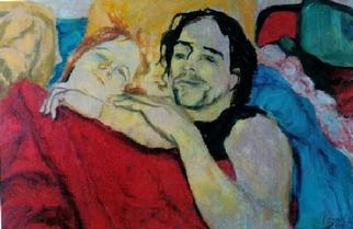 Artist: Sylva Zalmanson - Title: Young couple - Medium: Acrylic Painting - Year: 1998