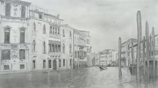 Aubin De Jongh: 'Venice', 2008 Enameling, Architecture.  Water canal through the old historic buildings in Venice ...
