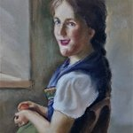 girl in chair By Abol Da