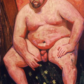 Adeline Goldminc Tronzo: 'DAVID', 1999 Oil Painting, Nudes.