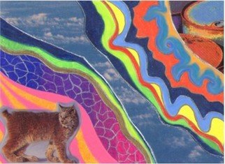 Alison Dennis Artwork Fossil and Fauna, 2005 Collage,