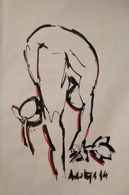 Aditya Dev Artwork painting 2, 2014 Ink Drawing, Abstract