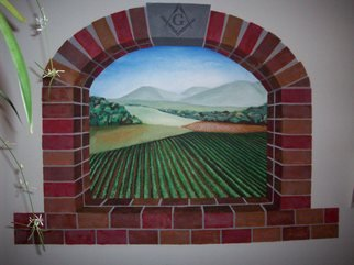 Leslie Timmons Artwork Vineyard Mural, 2008 Acrylic Painting, Scenic