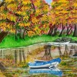 autumn pond By Althea E Jenkins