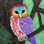 owl of many colors By Althea E Jenkins