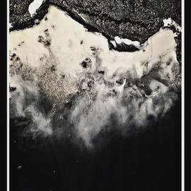 Aestheete Studio: 'reynisfjara', 2018 Other Painting, Sea Life. Artist Description: acrylic resin artwork on stretched canvas board.  the artwork displays aerial scenic view of the black beach. ...