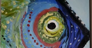 Faye Newsome: 'mr fish', 2019 Acrylic Painting, Fish. Artist Description: He swims the sea and makes us smile. ...