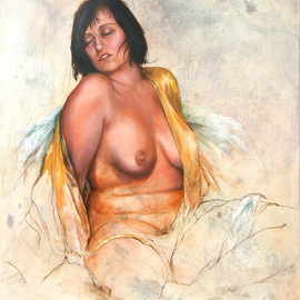 Ivo Winnubst: 'Hitting Ground', 2008 Oil Painting, Nudes. Artist Description:   Hitting Ground with Henny as my favorite  model  ...
