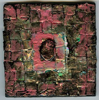 Agnieszka Boron: 'HANDPAINTED  TILE', 2014 Other Ceramics, Abstract.   mixed media: ceramics, acrylic, polimer, enamel and little stone from the sea   ...