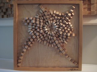 Wood Sculpture by Aaron Gullmes titled: crystalized, 2010
