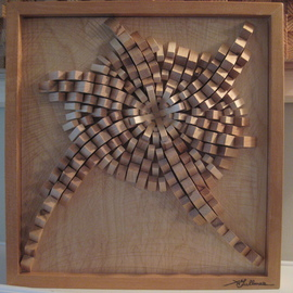 Aaron Gullmes Artwork crystalized, 2010 Wood Sculpture, Abstract