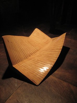 Wood Sculpture by Aaron Gullmes titled: the twisted roof, 2010