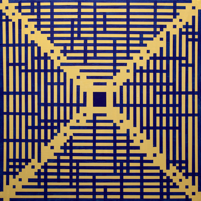Anders Hingel  'Blue And Yellow Maze', created in 2014, Original Painting Acrylic.