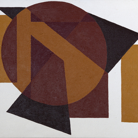 Anders Hingel Artwork Geometric abstract in brown, 2015 Acrylic Painting, Abstract