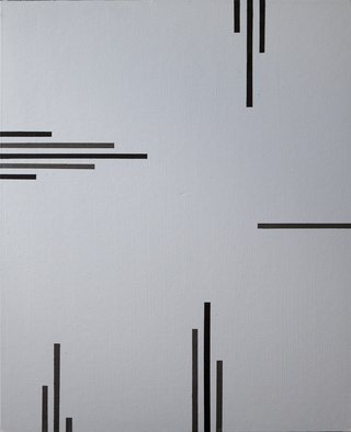 Anders Hingel: 'grey space v', 2017 Giclee, Minimalism. Making geometrical abstracts is like composing music. Starting from a mood, gesture, stroke, one step inspires the following until suddenly something is complete standing as a whole with nothing more to add. For viewers to contemplate and something might be happening. It is printed on Canson Infinity Rag, 100  cotton ...
