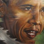 Portrait of Barack Obama  By Wong Pun Kin