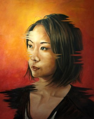 Wong Pun Kin: 'Portrait of Chinese woman', 2013 Oil Painting, Political.  Portrait of Chinese woman, oil painting,         ...