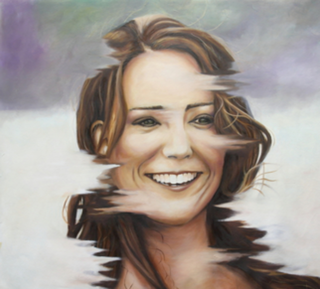 Wong Pun Kin  'Portrait Of Kate Middleton', created in 2013, Original Painting Oil.