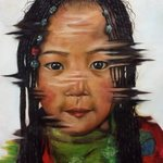 Portrait of Little girl By Wong Pun Kin