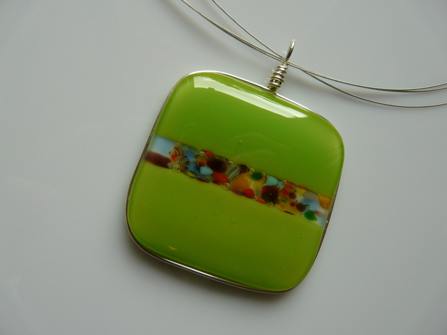 Image result for Fused Glass Pendant Jewelry?