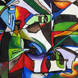 Abiodun Ijiyera Artwork Still Life No 1, 2012 Acrylic Painting, Still Life
