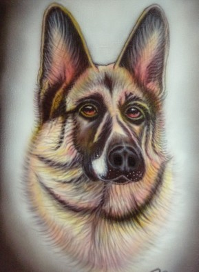 Undefined Medium by Can Yucel titled: Alsatian after Helen Backhouse, created in 2006