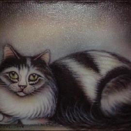 Can Yucel Artwork Freehand Airbrushed Cat Nr One, 2006 Other, Animals