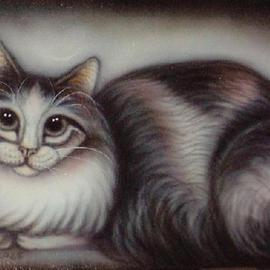 Can Yucel Artwork Freehand Airbrushed Cat Nr Two, 2006 Other, Animals