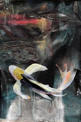 Airton Sobreira: 'Agate Koi', 2013 Digital Art, Fish.        original digigraph artist proof signed by airton sobreira on canvas or paper.available in several sizes.       ...