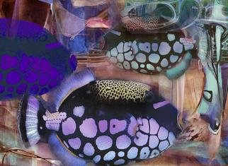 Airton Sobreira: 'Three Marines Fishes', 2013 Digital Art, Fish.                 original digigraph artist proof signed by airton sobreira on canvas or paper.available in several sizes.                ...