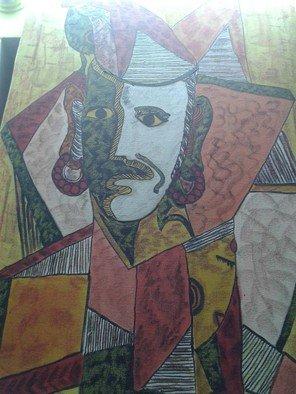 Artist: Ajay Ameria - Title: lafing  sad face - Medium: Oil Painting - Year: 2014