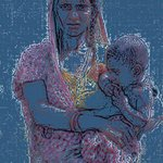 Mother  And  Child, Ajeet Kumar Shaah